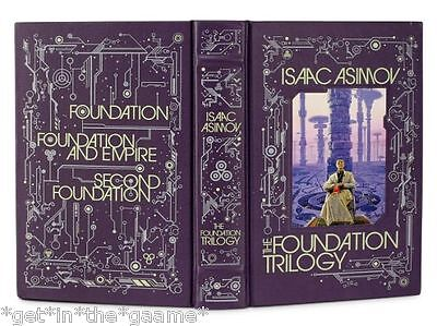 LEATHER BOUND The Foundation Trilogy by ISAAC ASIMOV - Sci-Fi - BRAND NEW Sealed