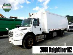 2008 Freightliner M2 Recycling Truck. Side Loader