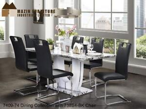 Faux marble look 7 PC Dining Set | Web only Sale (MA261)