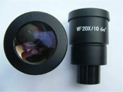 Pair Of Wf 20x Eyepiece For Nikon Olympus Leica Zeiss Stereo Microscope 30mm Kp