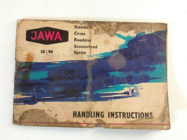 Vintage Jawa Czech Motorcycle Handling Instructions Owner