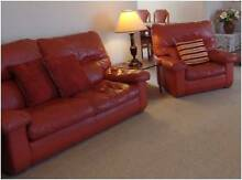 Three Piece Leather Lounge Sutherland Area Preview
