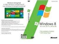 Windows 8 32bit & 64bit Operating System Recovery Repair Restore Boot Disc 16 in 1