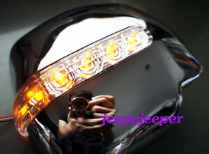 CHROME-MANUAL-MIRROR-COVER-LED-TOYOTA-HIACE-COMMUTER-2005-2008-R-BLUE-ORANGE
