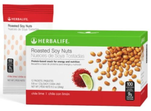 Herbalife Roasted Soy Nuts Chili Lime 12 Packets per Box Protein Based Snack
