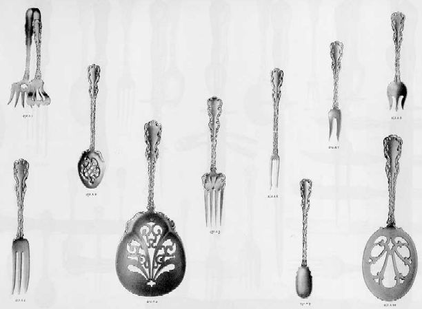 1896 Catalog Reprint Whiting Louis XV Sterling Silver Flatware & Hollowware 60PG