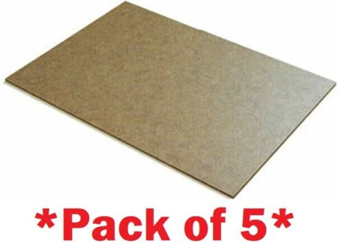 Masonite Panel Drawing Painting Board Sheets 9 x 12 x 3/16 inch - Pack of 5