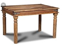 Dinning table jail / sheesham solid wood NO CHAIRS !