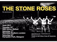 Stone roses Glasgow 2 standing tickets