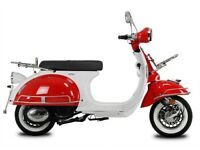 NEW AJS MODENA 50CC MOPED FOR £6.75 PER WEEK