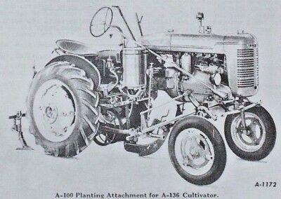 Ih 1939-1947 Farmall A Tractor Mccormick A-99 A-100 Planter Owners Parts Manual