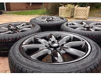 "Genuine 17"" BMW Mini Cooper S One Refurbished Alloy wheels & Brand New 205/45/17 Tyres"