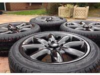 "Genuine 17"" BMW Mini Cooper S Clubman Refurbished Alloy wheels & Brand New 205/45/17 Tyres"
