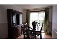 Dining table and 6 chairs & matching display cabinet