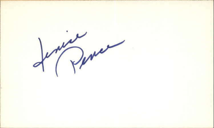 "DENISE PENCE GUIDING LIGHT Signed 3""x5"" Index Card"