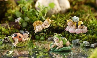 Fairy Garden Fun Baby Fairies Animals Halloween Costume Sleeping Dollhouse Mini (Garden Fairy Costume)