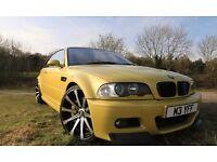 BMW M3 3.2 Rare phoenix yellow FSH low milage
