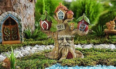 Miniature Fairy Garden Dollhouse Enchanted Forest Tree House GI 706465
