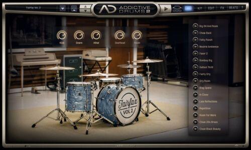 Details about XLN Audio Fairfax Vol 2 ADpak Addictive Drums 2 Drum Samples  & Kit - EXPANSION