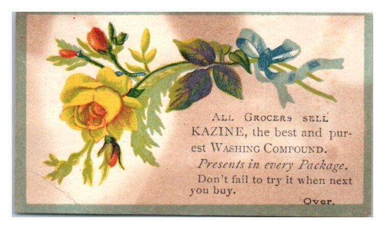 Kazine Soap Victorian Trade Card