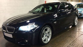 Carbon Black BMW 520d M Sport Diesel Auto 2014 FROM £77 PER WEEK!