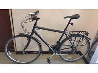 """Raleigh Pioneer Shimano Hybrid 28"""" (700C) wheels, adult man ladies lightweight town city bike £100"""