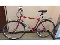"Hybrid Shimano Diamondback 28"" (700C) wheels, adult man ladies lightweight town city bike £85"
