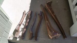 Lot of 6 Antique solid wood carved Table Legs