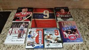 Maurice Rocket Richard Montreal Canadiens Book & DVD Collection