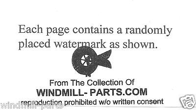 Aermotor 602 Windmill Exploded Motor Diagrams for assembly help