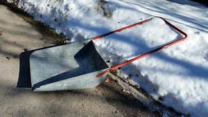"24"" Galvanized Metal Snow Shovel Push Scoop"