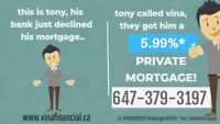 5.99% PRIVATE MORTGAGE 85% OF PURCHASE PRICE!