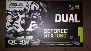 ASUS NVIDIA GTX 1060 3GB GDDR5 PCIE Graphics Card, A+ Condition