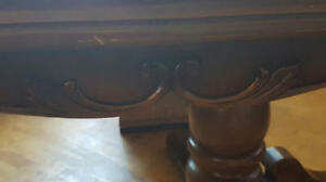 Wodden Dinning Room Table and 8 Chairs Kitchener / Waterloo Kitchener Area image 1