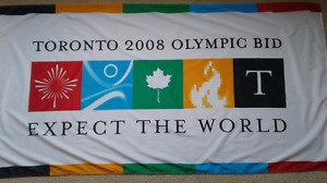 2008 Toronto Olympic Bid Flag - Very Rare