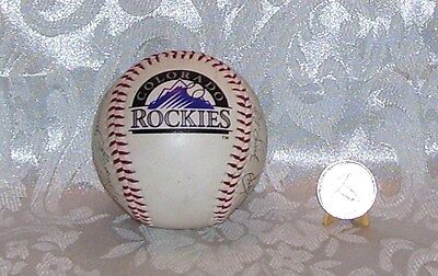 Colorado Rockies King Soopers Baseball Collector Series Ball Auto Signed