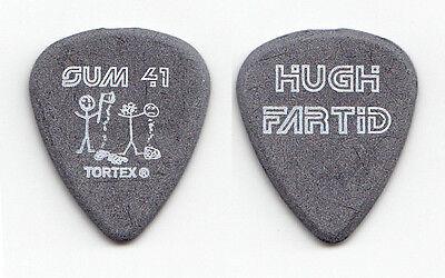 "Sum 41 Dave ""Brownsound"" Baksh Hugh Fartid Gray Guitar Pick - 2003 Tour"