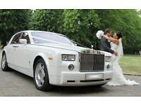 Rolls Royce Phantom Ghost Chauffeur Hire Service - Weddings Proms Birthdays - Wedding Package -