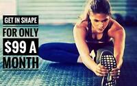 Get in shape for $99 a month!