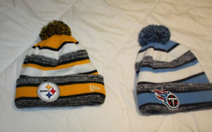 NFL New Era Knit hats, Steelers and Titans