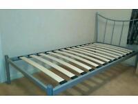 One single standard bed. No mattress