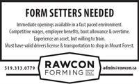 Form setters needed