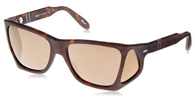 Persol 0009-S Sunglasses Matt Brown 89903 Side-Shields Authentic New Size (Persol Sunglasses Sizes)
