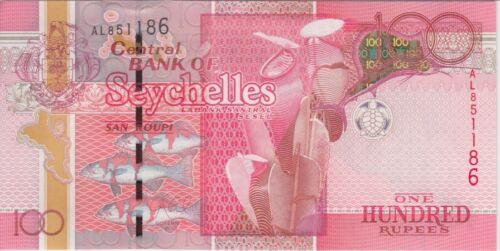 Seychelles Banknote P44 100 Rupees, AU
