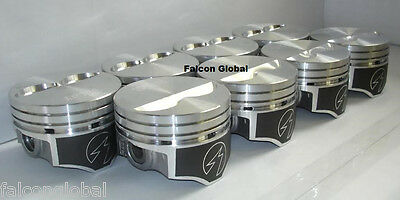 Speed Pro Chevy 350 Hypereutectic Coated Flat Top 2VR Pistons Set/8 9.7:1 STD