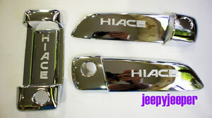 CHROME-DOOR-HANDLE-COVER-TOYOTA-HIACE-COMMUTER-2005-2011-ON