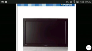 Polaroid 26 Inch FLAT SCREEN HDTV HDMI TELEVISION TV WITH MOUNT