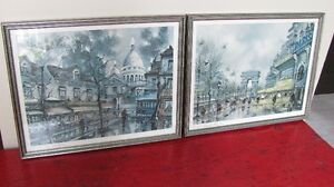2 Lithographes de Paris en couleur Paris Lithographs in color