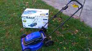 Kobalt corded 21 inches lawn mower electric, used once Windsor Region Ontario image 1