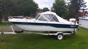 Tempest bowrider Boat motor and trailer package
